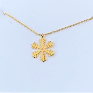 Jewelry - Snowflake necklace 14 K gold plated